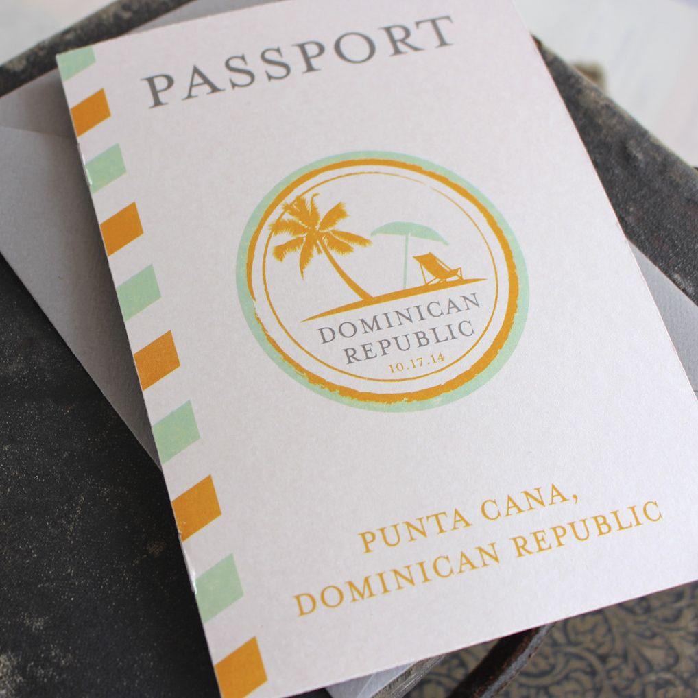 destination wedding invitations green orange - Google Search ...