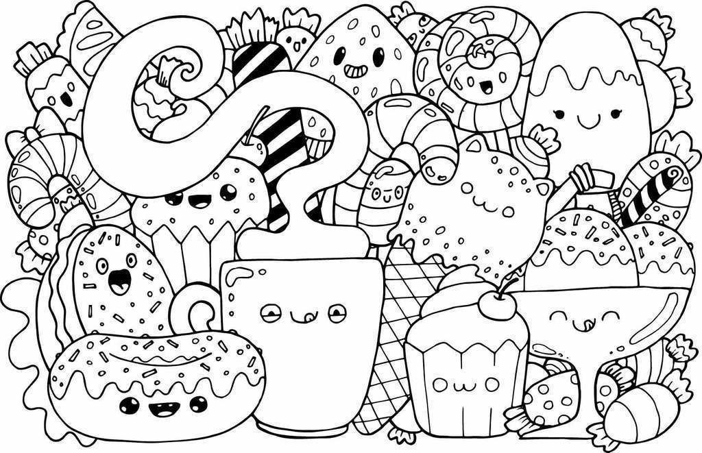 Dibujos Kawaii Colorear With Images Cute Coloring Pages