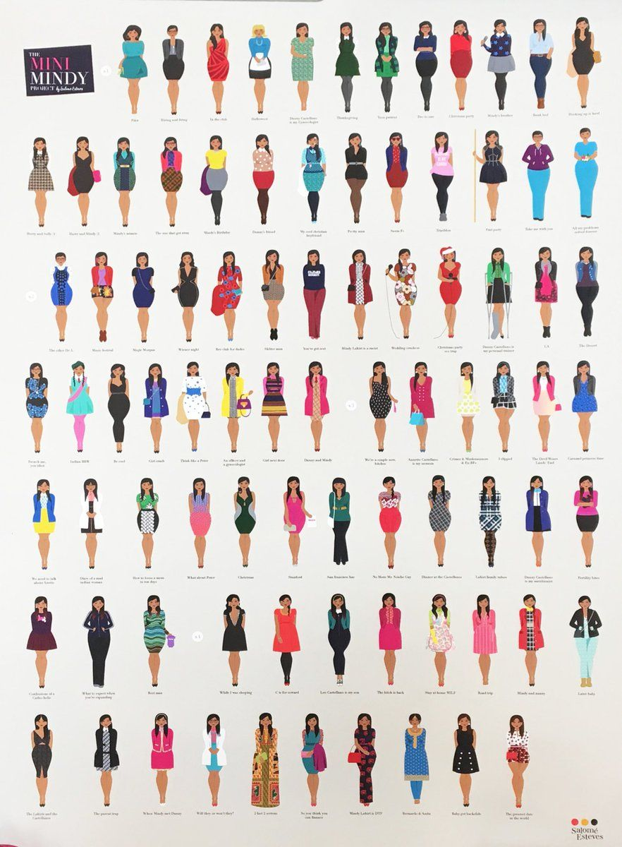 Mini Mindy- Outfits from The Mindy Project