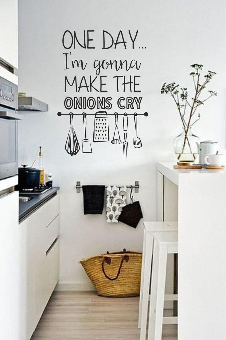 Muursticker Tekst Onions Cry Muurstickers Thuisdecoratie Home Decor Keuken