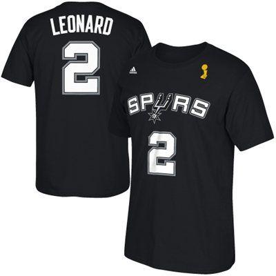 95b89bcde Kawhi Leonard San Antonio Spurs adidas 2014 NBA Finals Champions Name    Number T-Shirt