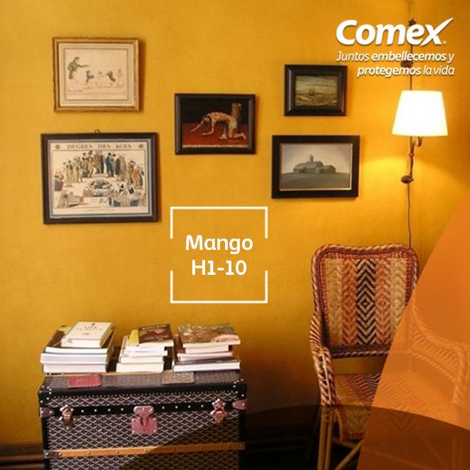 Da calidez a tu hogar en esta época con el color #Mango  #ComexPinturerías #Decoración