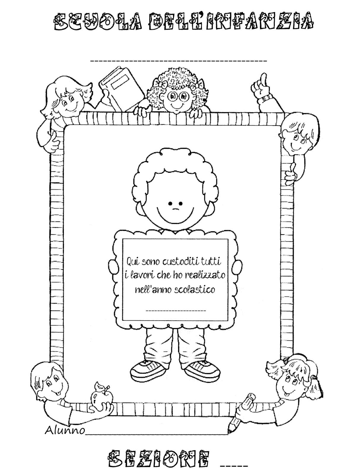 La maestra linda copertine per raccogliere i lavori dei for Maestra gemma accoglienza scuola infanzia