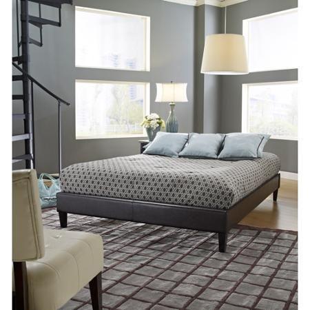 Premier Elite Faux Leather Full Brown Platform Frame $129 @ Walmart ...