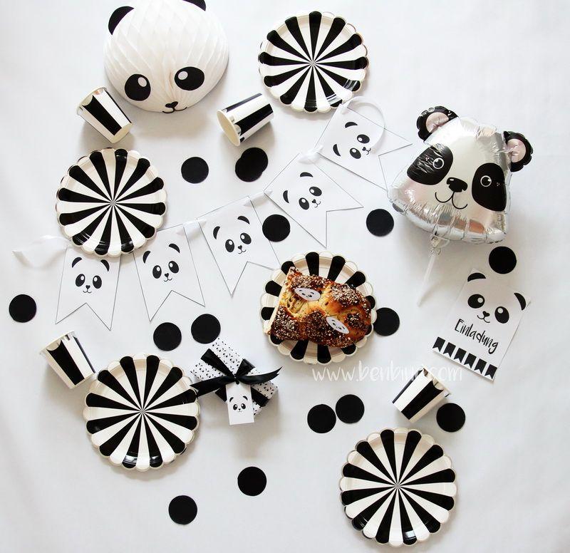 Außergewöhnlich Printables | Benbino | Vorlagen | Panda | Kindergeburtstag | Geburtstag |  Party | Mottoparty |