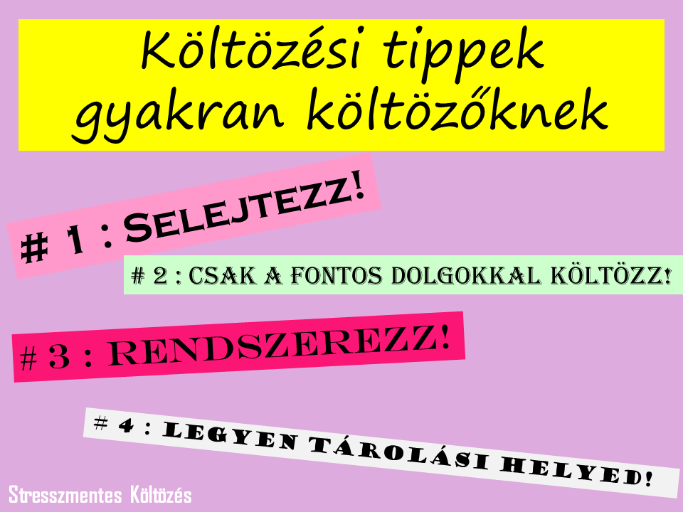 Költözési tippek gyakran költözőknek  A teljes cikket itt találod:  http://stresszmenteskoltozes.hu/koltozesi-tippek-gyakran-koltozoknek/