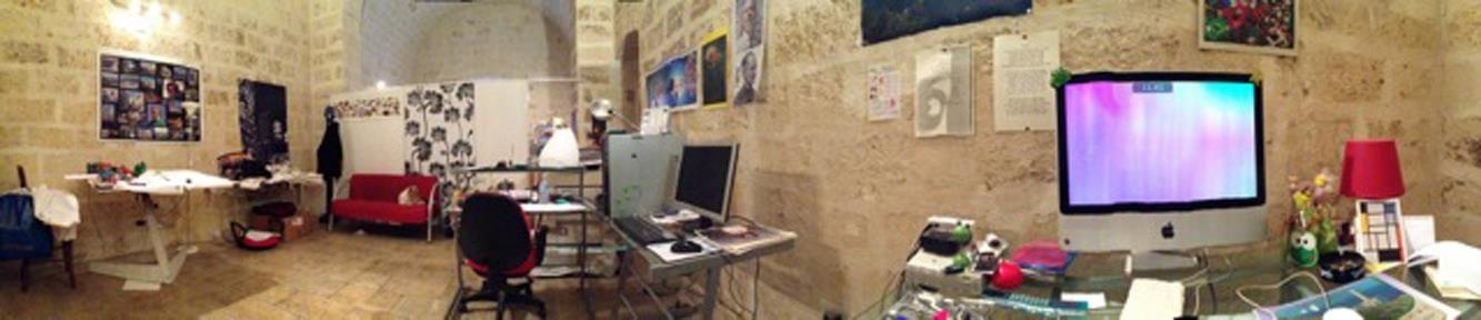 Zona interna dello studio/lab creativo