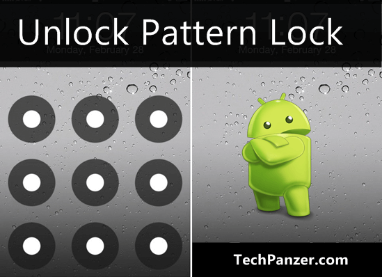 how to unlock pattern lock on android phone, reset android