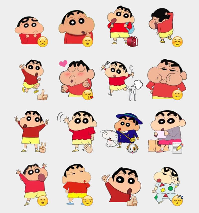Shinchan 3 Stickers Set
