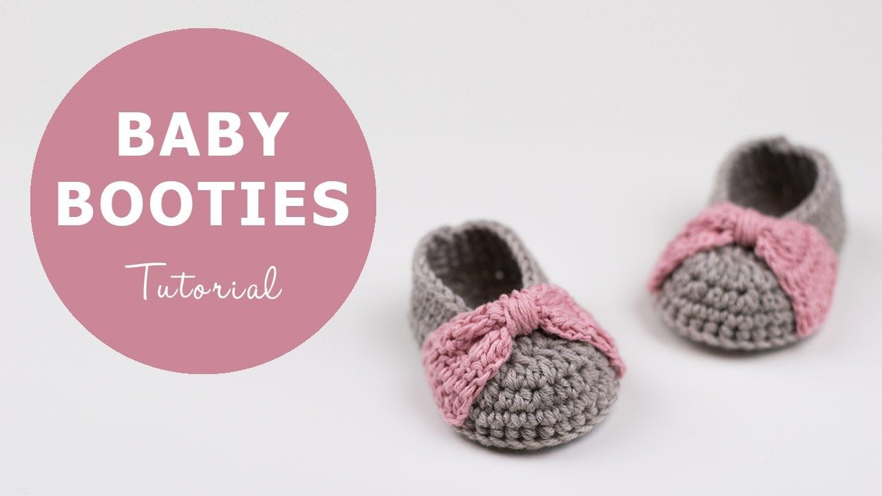 How To Crochet Baby Booties | Croby Patterns | Hooked | Pinterest ...