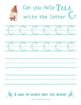 Letter B and C - FREE Moana Handwriting Worksheets - Homeschool ...