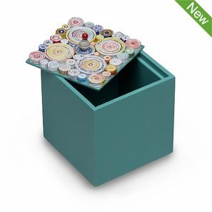 Recycled Paper Coils Turquoise Keepsake Box $39.95