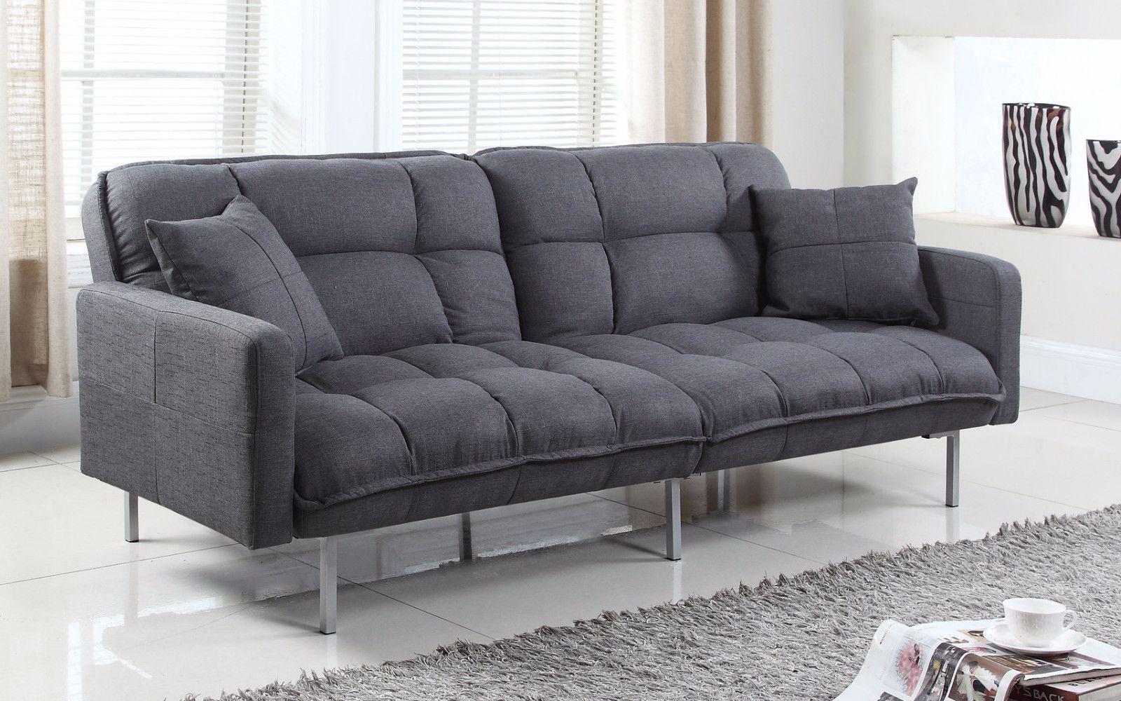 new product 12001 7f3c3 Nemo Cheery Modern Soft Linen Sleeper Futon Sofa | Products ...