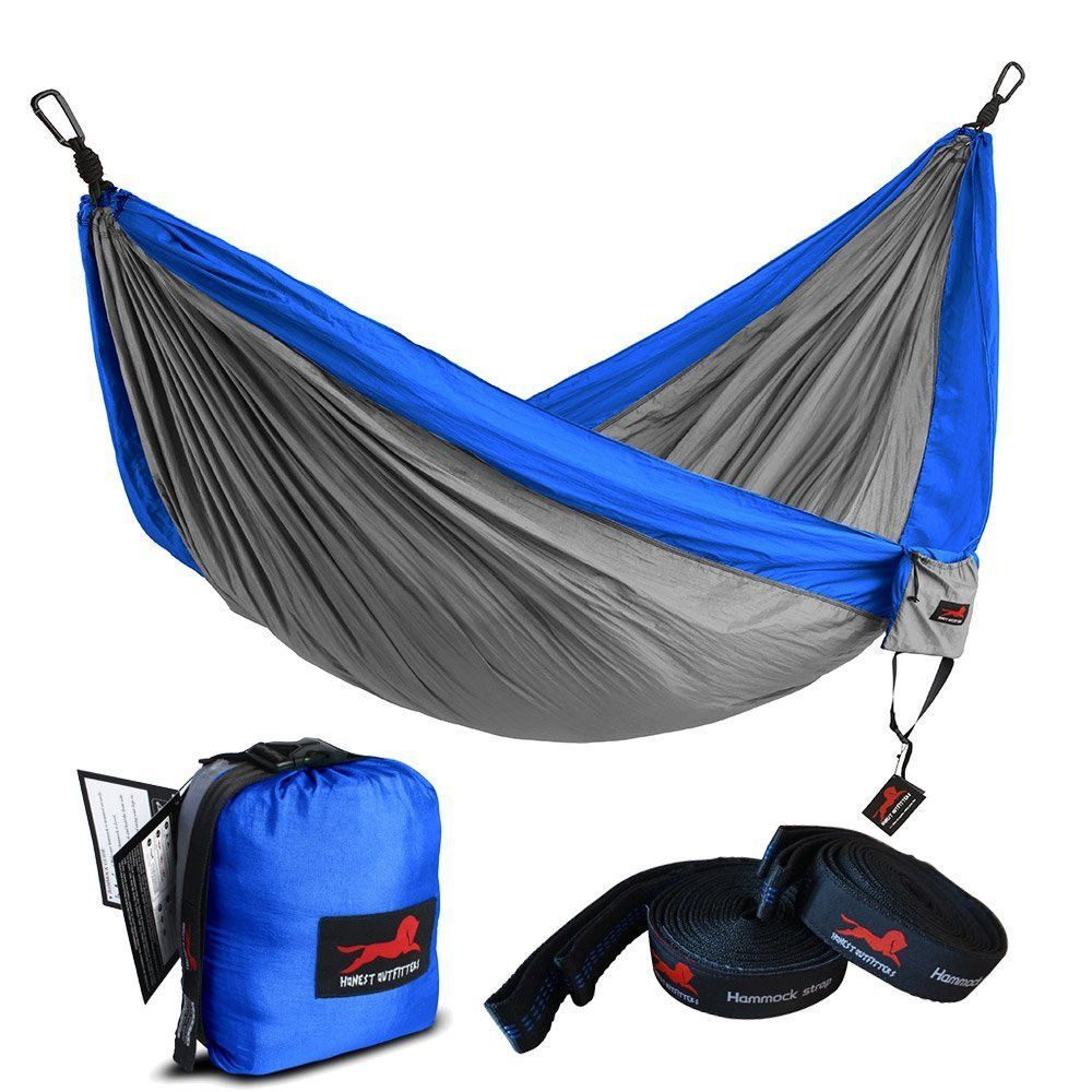 Honest outfitters single camping hammock with basic tree straps