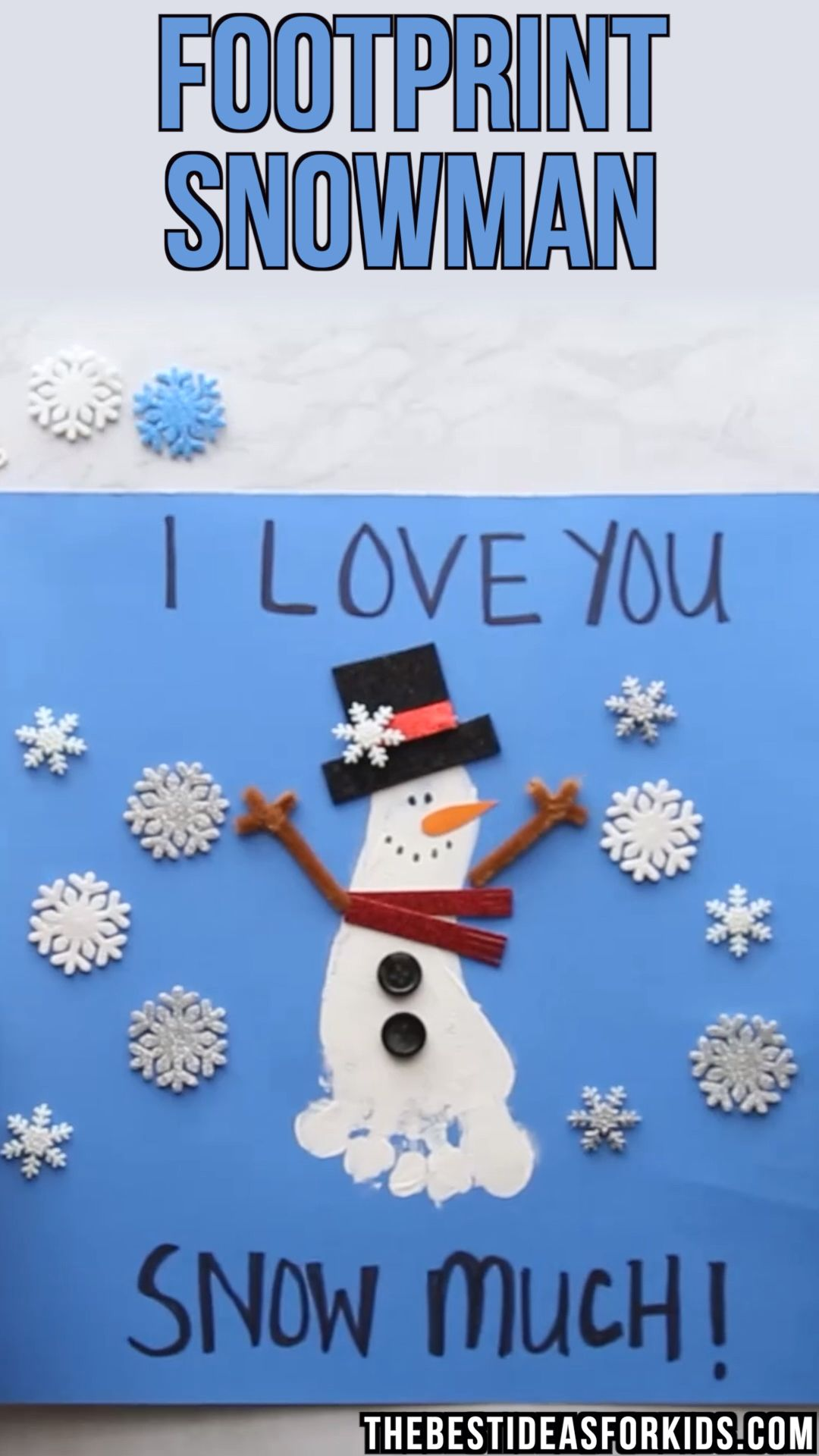 Footprint Snowman ⛄️