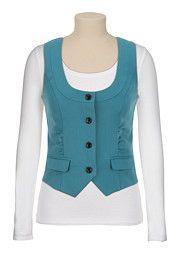 adorable! Cinched Front Vest - maurices.com