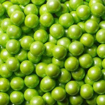 Sixlets Mini Chocolate Balls Shimmer Lime Green
