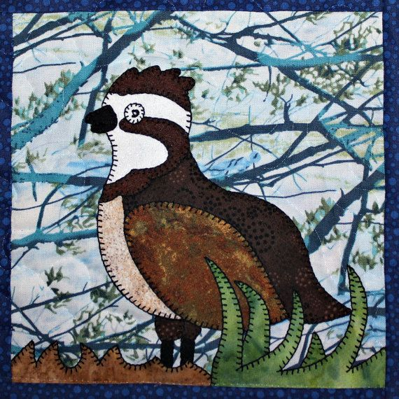 Northern grouse PDF applique quilt block pattern by MsPDesignsUSA ...