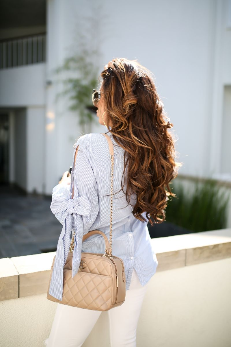 The Cutest Bow Sleeve Top | Bowling outfit, Fall outfits