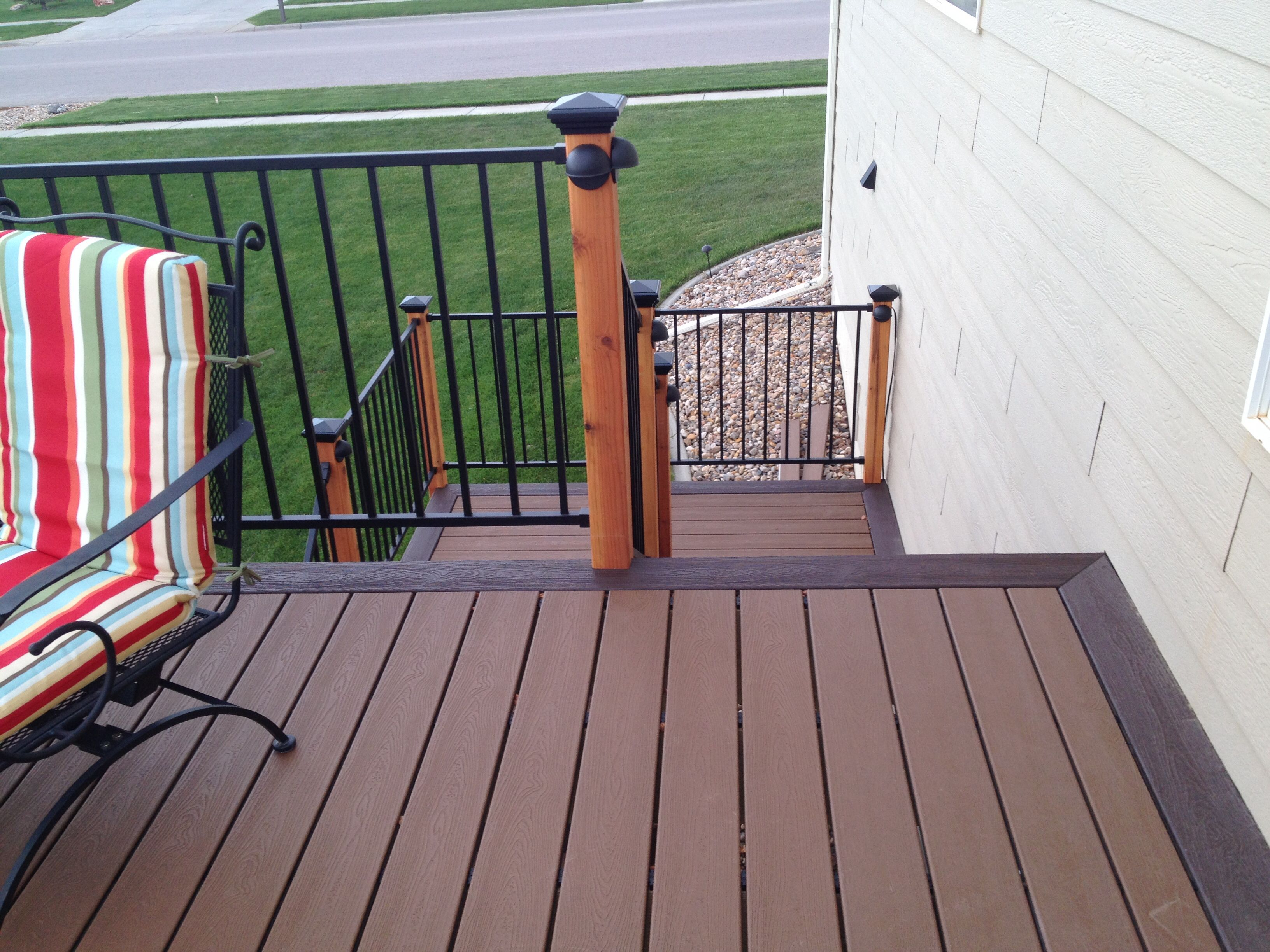 Trex Decking Vintage Lantern Border And Tree House For The Body Metal Railing With Deck Lights On Posts