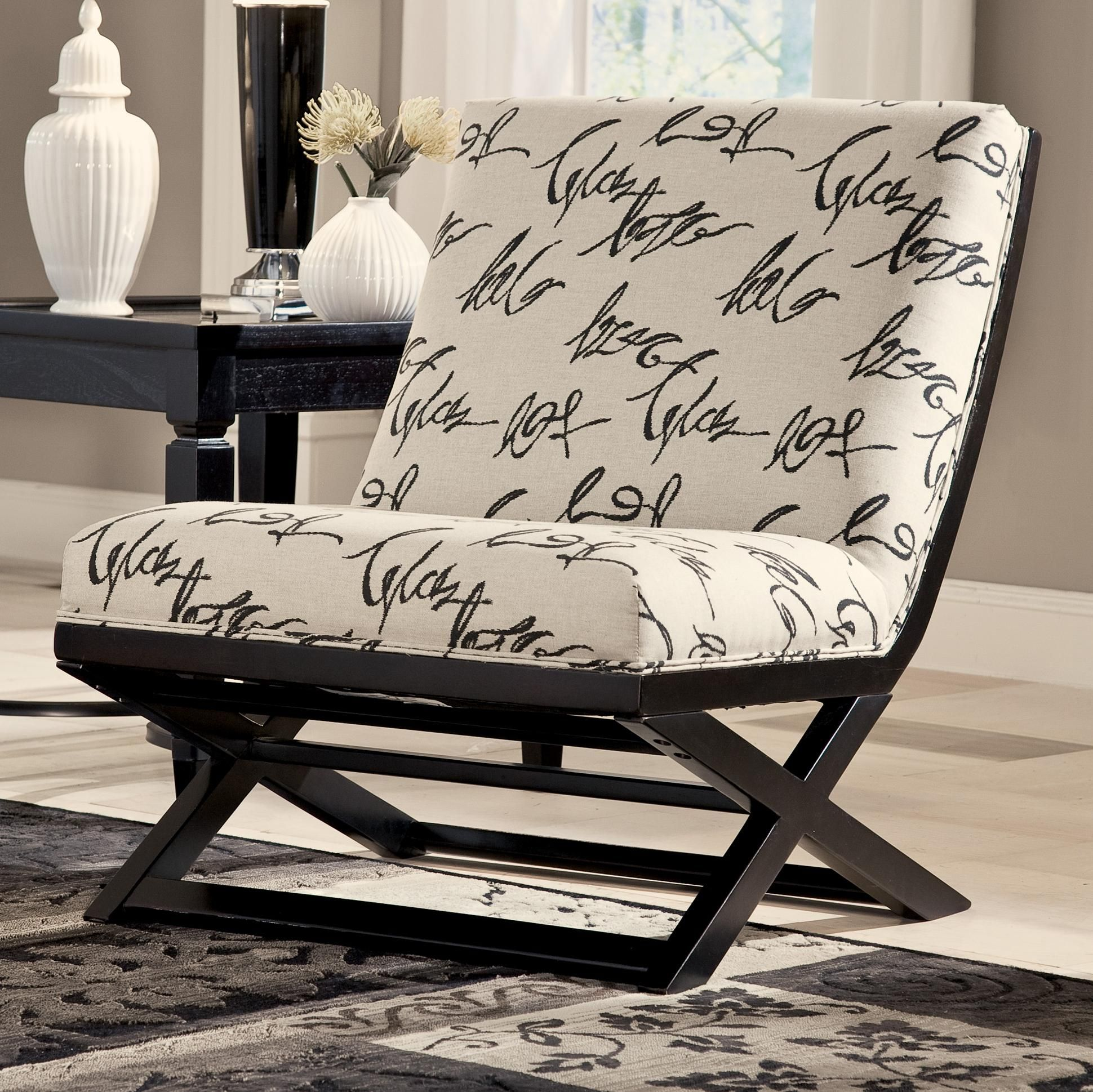 Levon Charcoal Showood Accent Chair by Signature Design by