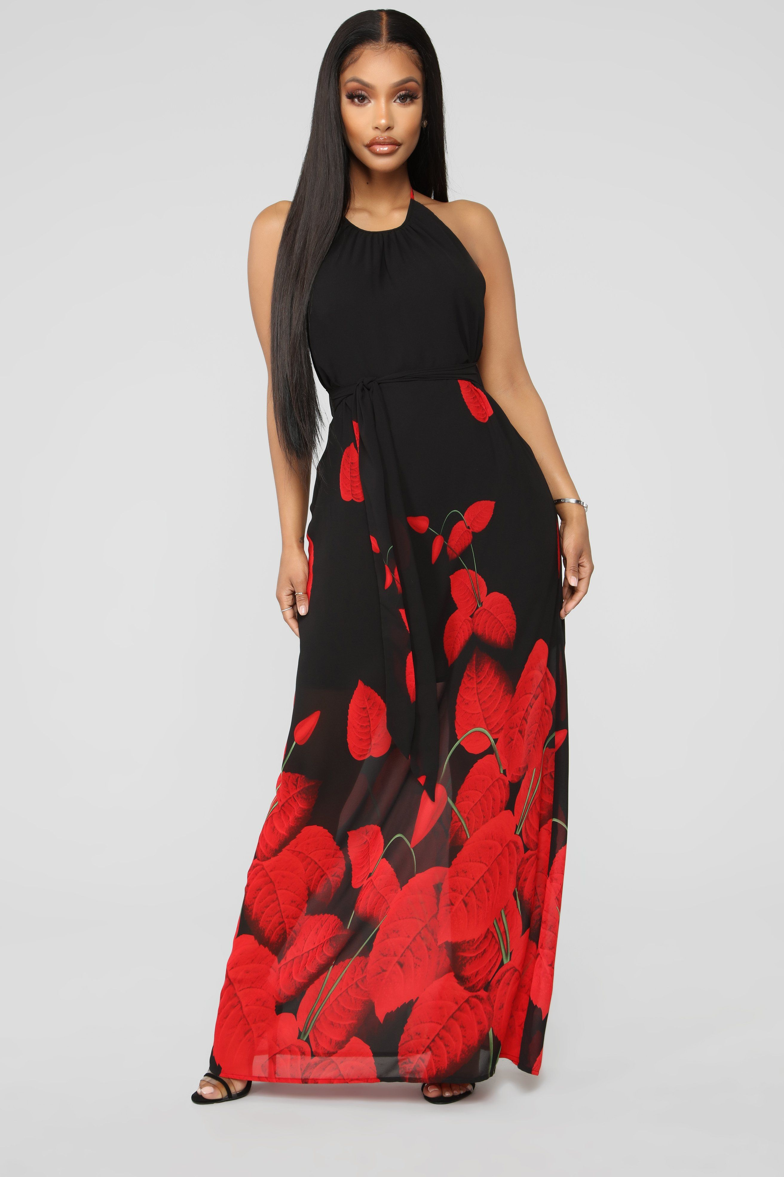 39276548f1 Simple Black Halter Maxi Dress   Dresses   Halter maxi dresses, Dresses,  Black maxi