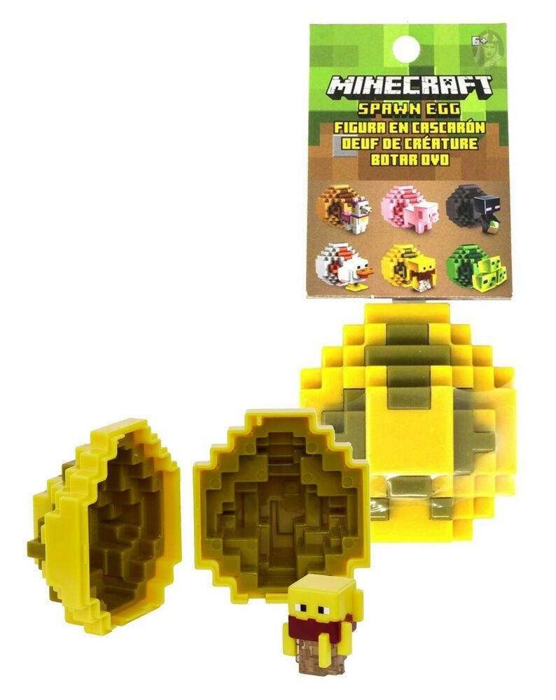 Creeper Jelly Minecraft Spawn Egg With Mini Figures Lot of 3 Chicken Blaze