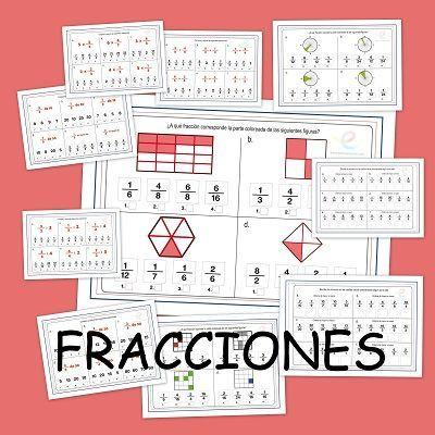 Fracciones. Suma resta multiplicacion y division de fracciones ...