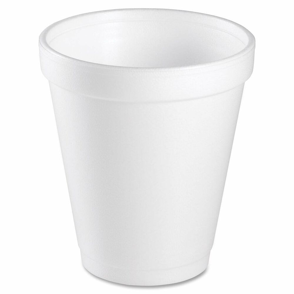 Dart 8 Oz White Disposable Coffee Foam Cups Hot And Cold Drink Cup Pack Of 100 Dart Foam Cups Paper Coffee Cup Styrofoam Cups