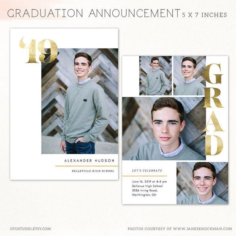 Graduation announcement template 2021 senior printable