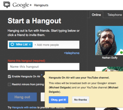 Google+ Hangouts On Air What Marketers Need to Know