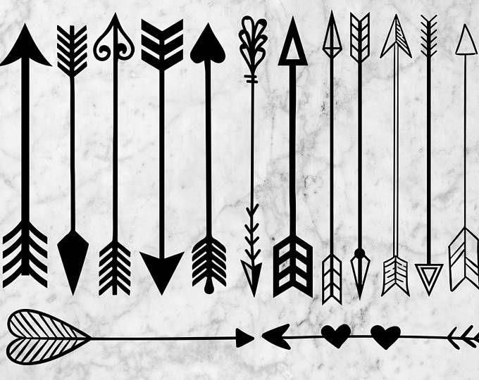 Boho Arrows 17 Hand Drawn Clipart Tribal Native Diy Elements Logo Invitation Pencil Transparent Digital Png Style Tattoo Romantic Hand Drawn Arrows How To Draw Hands Dream Catcher Art