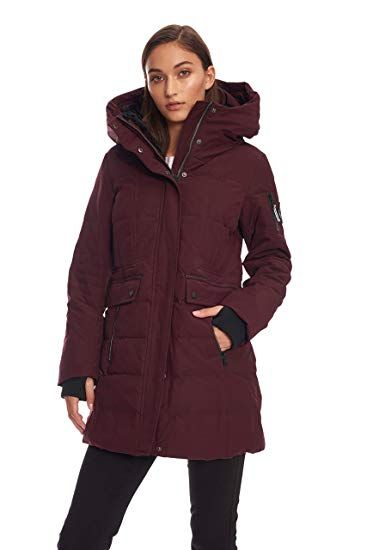 b789ac7136a New Alpine North Womens Down Mid-Length Winter Coat with Hood online.    94.50  offerdressforyou Fashion is a popular style