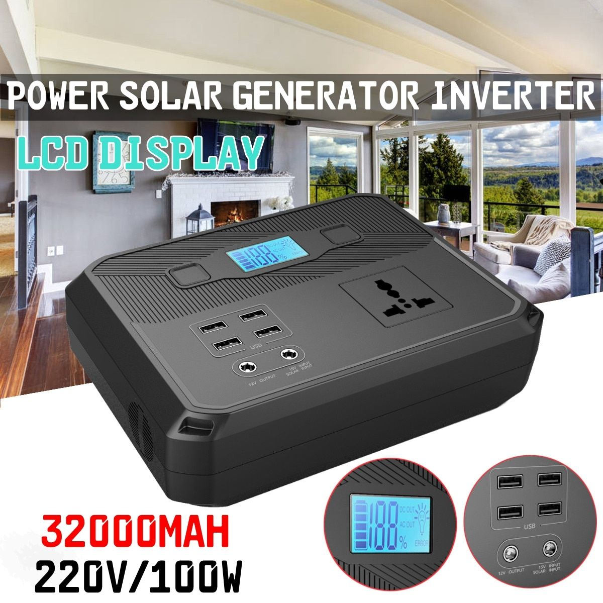 US 94.99 50 OFF220V 120Wh 100W Energy Storage Portable