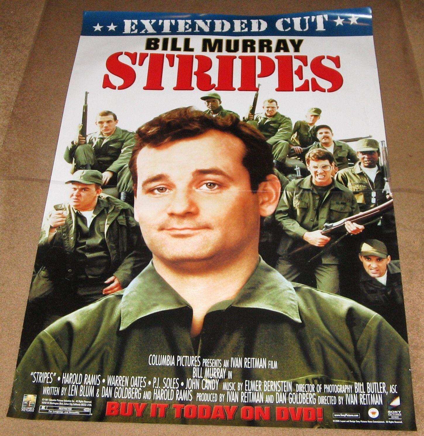 Stripes Extended Cut Movie Poster 27x40 Used Judge Reinhold, John ...