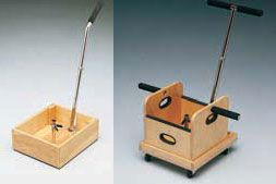 Work hardening sled, lift box and accessories are used in occupational therapy to test people's ability to perform work tasks.