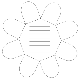 kruschkiste faltblume blanco vorlage f r das lapbook lapbook pinterest school teacher. Black Bedroom Furniture Sets. Home Design Ideas
