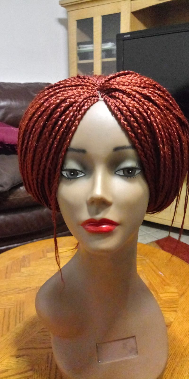 Braided wig with closure 16 inches colour 350 very