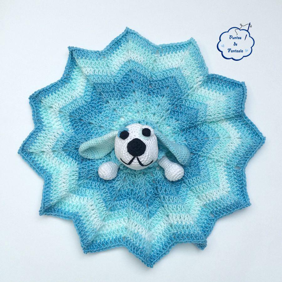 manta de apego perro crochet puntos de fantasia   mantas de apego ...