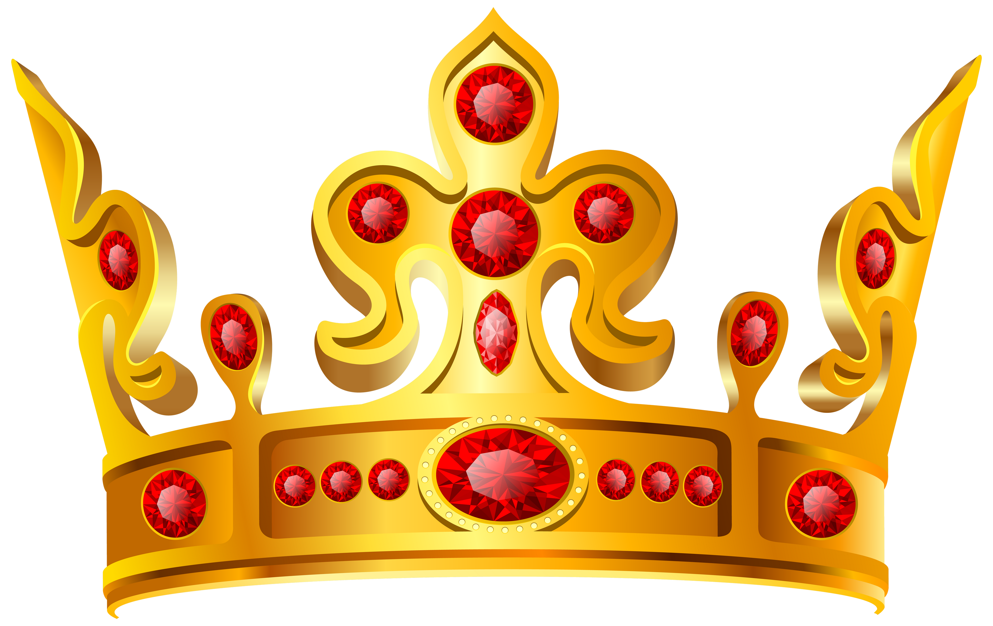 Gold Crown Red Stone Png Image Crown Clip Art Crown Png Clip Art