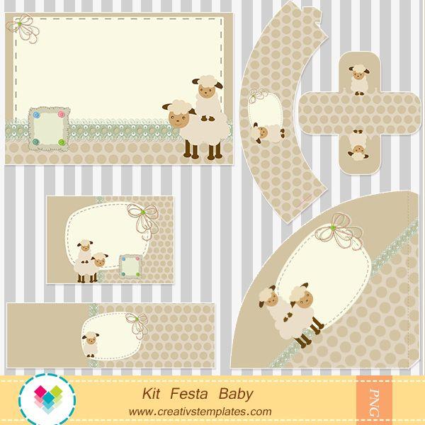 Arte para personalizar festa no tema ovelhinha para menino for O rapaz a porta