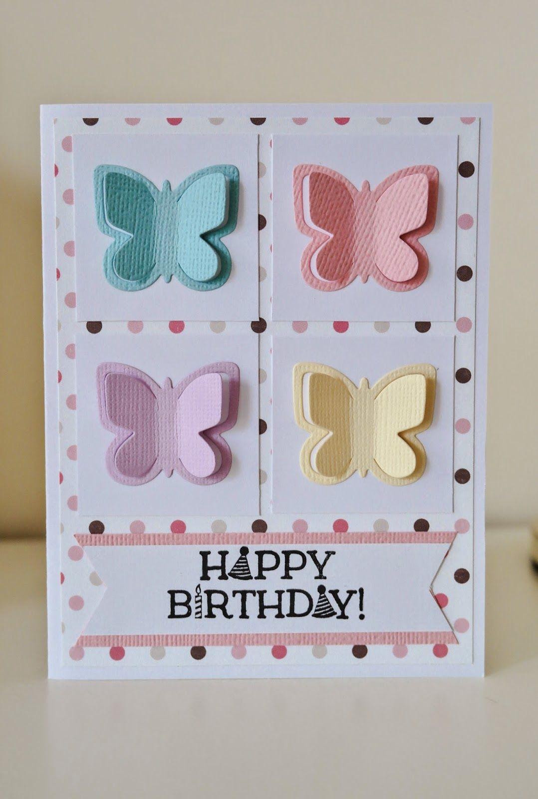 Birthday Butterflies Card for Little Girls Butterfly