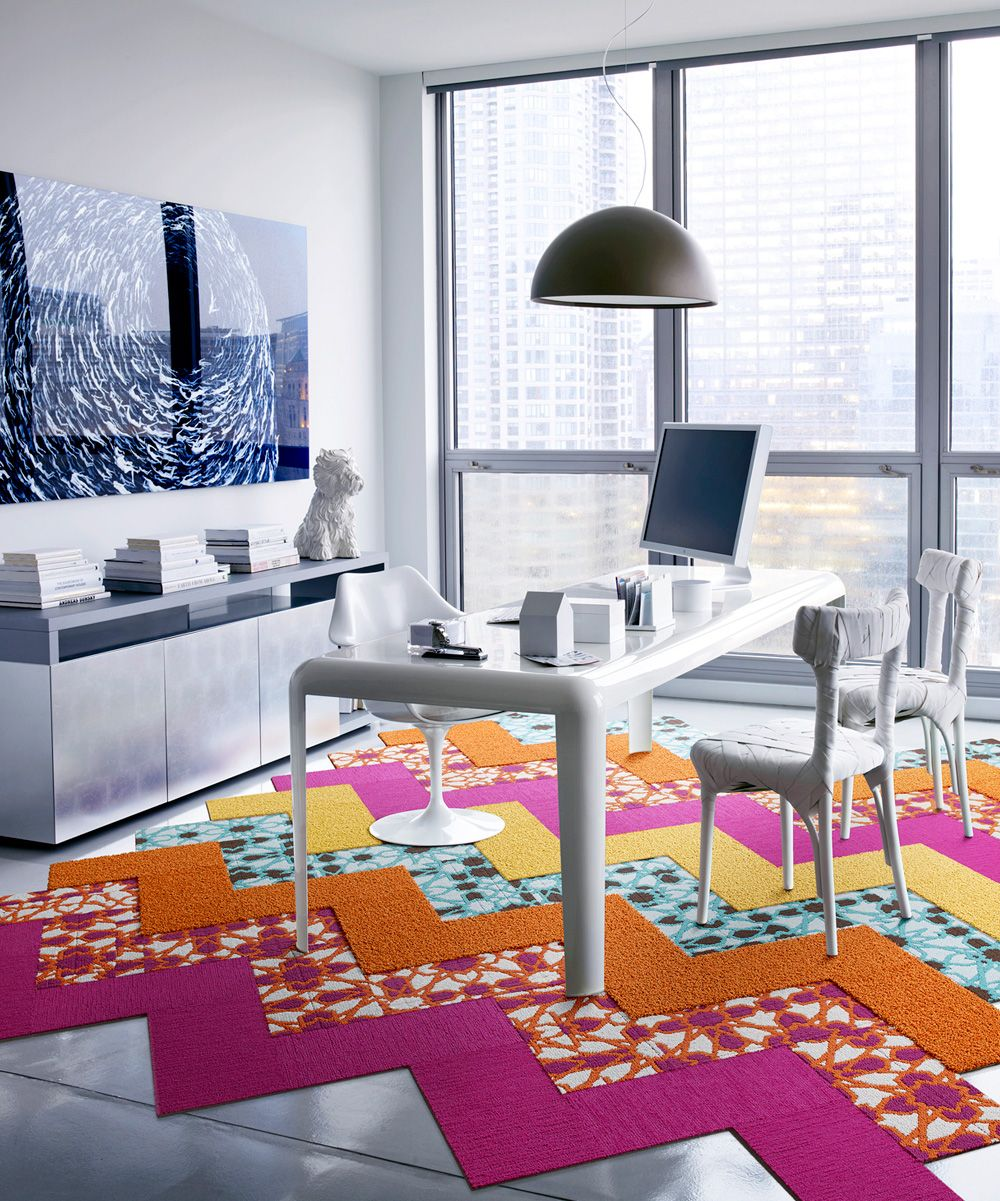 Zulily Home Decor: FLOR Stained Glass Five-Cut Design Rug Square Set