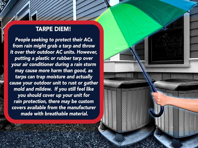 WednesdayWisdom TarpeDiem RainProtection Ac repair