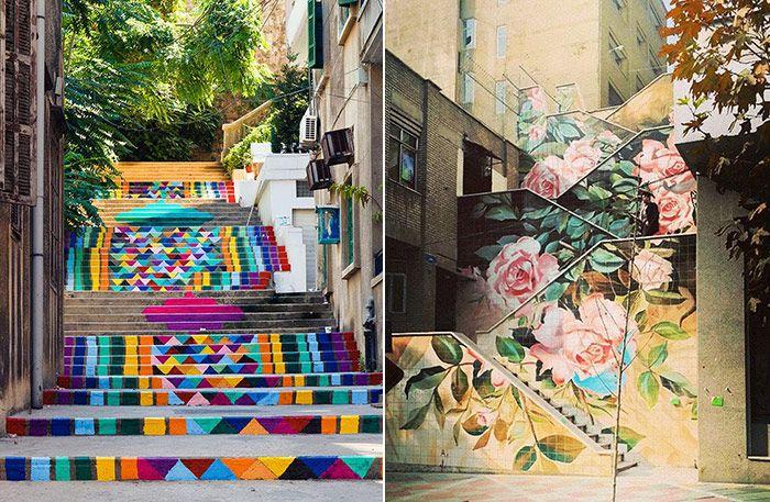 Här är världens vackraste trappor - kreativ gatukonst på en helt ny nivå - Sköna hem