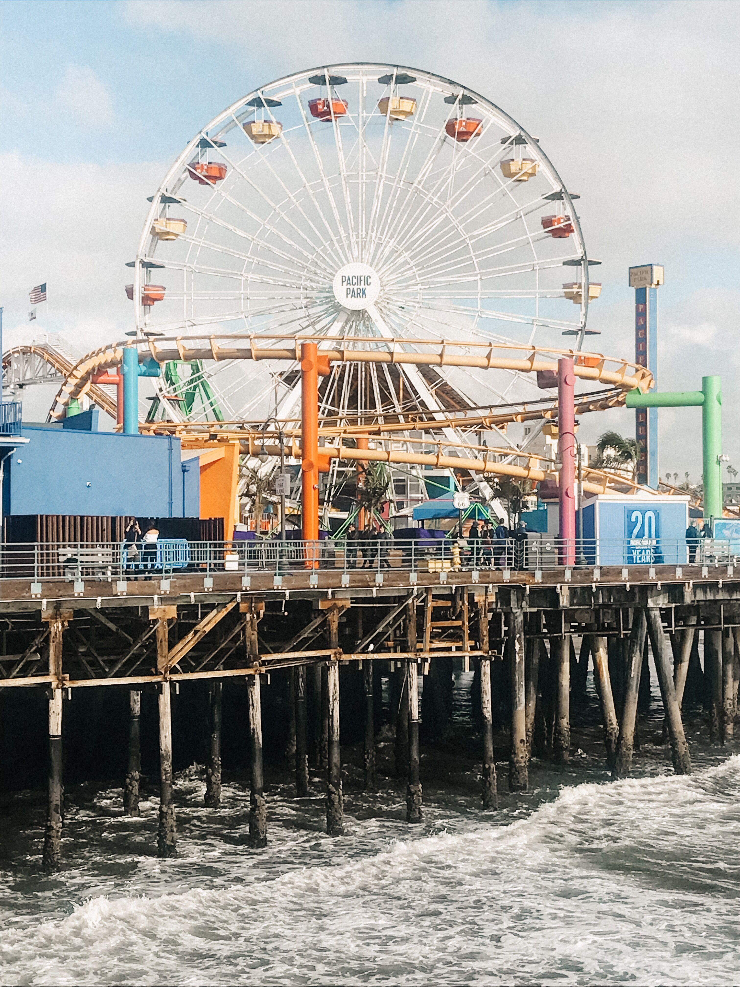 La Santamonica Ferriswheel Santa Monica Photo Instagram Photo