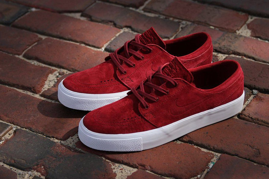 The Nike SB Stefan Janoski Just Released In This Premium Team Red Colorway