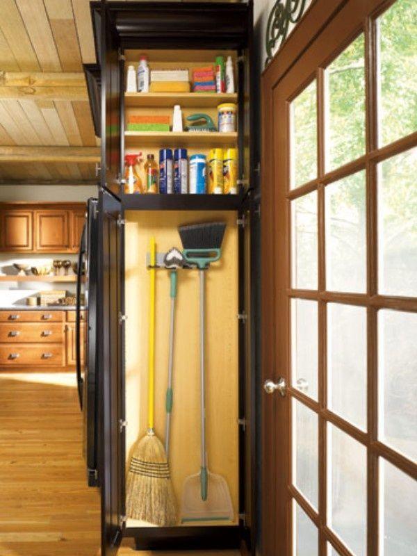 Small Broom Closet Home Organizing Ideas