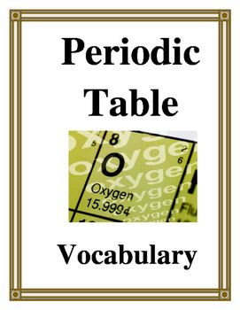 Periodic table vocabulary periodic table textbook and vocabulary periodic table vocabulary urtaz Gallery