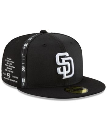 sale retailer 159f8 0b2b2 New Era San Diego Padres Inside Out 59FIFTY-fitted Cap - Black 7 1 2
